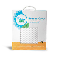 Lullaby Earth Breeze Breathable Washable Crib Mattress Cover White