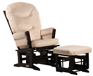 Dutailier C00-64A Silver Modern Glider and Ottoman Combo