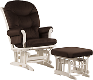 Dutailier C20-81A Platinum Sleigh Glider Multiposition Recline and Ottoman Combo
