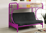 Furniture of America Rainbow Twin/Futon Base Bunk Bed Purple