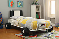 Furniture of America Power Racer Twin Bed White