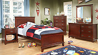 Furniture of America Colin Collection 4-Piece Set Cherry