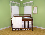 Trend Lab Classic White Pique 3PC Crib Bedding