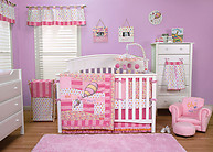 Trend Lab Dr. Seuss Pink Oh, the Places You'll Go! 3PC Crib Bedding Set
