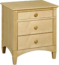 Bolton Furniture Essex 3 Drawer Nightstand Natural
