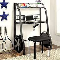 Furniture of America GT Racer Desk with Stool