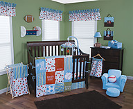 Trend Lab Little MVP 3PC Crib Bedding Set