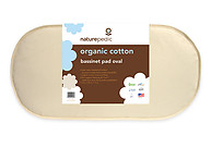 Naturepedic Organic Cotton Oval Bassinet Mattress