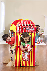 Little Partners The Learning Tower Playhouse Kit- Popcorn Stand and Puppet Show