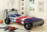 Furniture of America Racer Twin Bed Silver/ Black