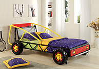 Furniture of America Racer Twin Bed Red/ Yellow