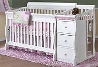 Sorelle Furniture Tuscany 4-in-1 Crib with Changer White
