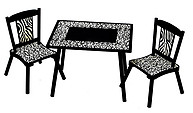 Levels of Discovery Wild Side Table & 2 Chair Set