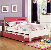 Furniture of America Kimmel Bed Pink & White