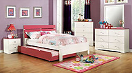 Furniture of America Kimmel Collection 4-Piece Set Pink & White
