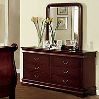 Furniture of America Louis Philippe II Dresser Cherry