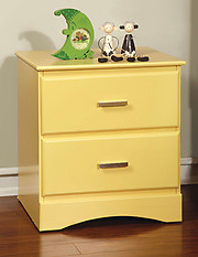 Furniture of America Prismo Nightstand Yellow