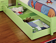 Furniture of America Prismo Trundle Green
