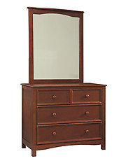 Bolton Furniture Wakefield 4-Drawer Dresser and Mirror Set Cherry