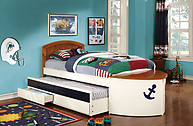 Furniture of America Voyager Captain Twin Bed