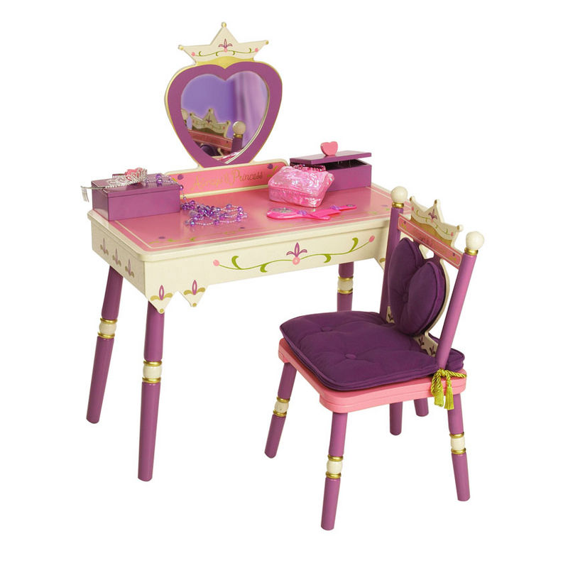 Princess Vanity Table Chair Set