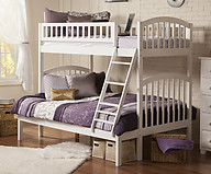 Atlantic Furniture Richland Bunk Bed Twin over Full White
