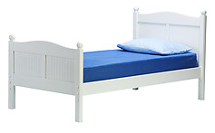 Bolton Furniture Cottage Twin Bed with Headboard and Footboard White
