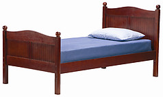 Bolton Furniture Cottage Twin Bed with Headboard and Footboard Cherry