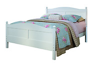 Bolton Furniture Cottage Full Bed with Headboard and Footboard White