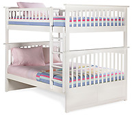 Atlantic Furniture Columbia Bunk Bed Full over Full White