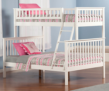 Atlantic Furniture Woodland Bunk Bed Twin over Full White