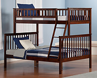 Atlantic Furniture Woodland Bunk Bed Twin over Full Antique Walnut