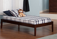 Atlantic Furniture Concord Bed Twin XL Antique Walnut