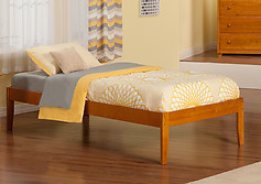 Atlantic Furniture Concord Bed Twin Caramel Latte