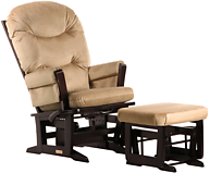 Dutailier C01-84A Gold Modern Glider Multiposition and Ottoman Combo