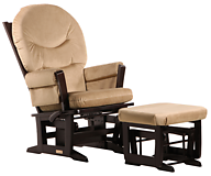 Dutailier C01-84C Gold Modern Glider Multiposition and Ottoman Combo