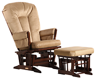 Dutailier C20-82B Platinum Two Post Glider Multiposition Recline and Ottoman Combo
