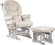 Dutailier C26-81C Platinum Plus Sleigh Glider Multiposition, Recline and Nursing Ottoman Combo