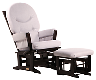 Dutailier C26-84C Platinum Plus Modern Glider Multiposition, Recline and Nursing Ottoman Combo