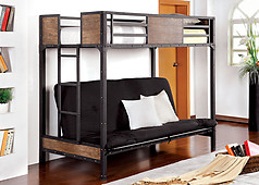 Furniture of America Clapton Twin Bunk Bed with Futon