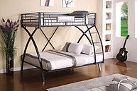 Furniture of America Apollo Bunk Bed Gun Metal