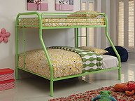 Furniture of America Rainbow Twin/Full Bunk Bed Green