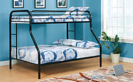 Furniture of America Rainbow Twin/Full Bunk Bed Black