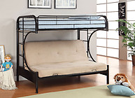 Furniture of America Rainbow Twin/Futon Base Bunk Bed Black