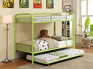 Furniture of America Rainbow Twin/Twin Bunk Bed Green