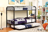Furniture of America Rainbow Twin/Twin Bunk Bed Black
