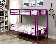 Furniture of America Rainbow Twin/Twin Bunk Bed Purple