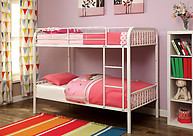 Furniture of America Rainbow Twin/Twin Bunk Bed White