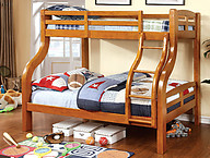 Furniture of America Solpine Bunk Bed Oak