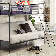Furniture of America Olga I Twin Bunk Bed with Futon Base